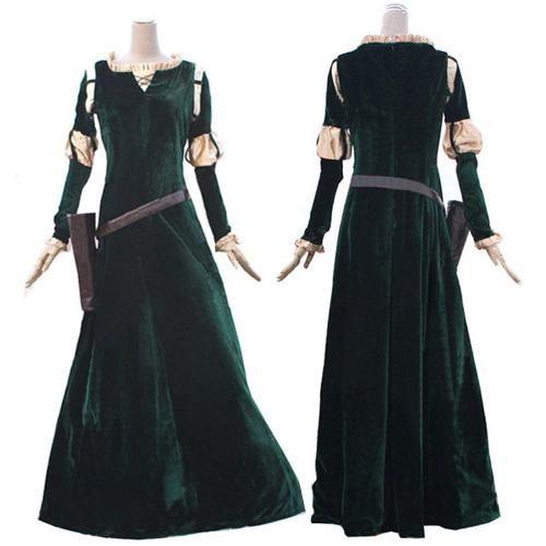 Brave Merida Cosplay Costume Princess Merida cosplay Dress For Adults