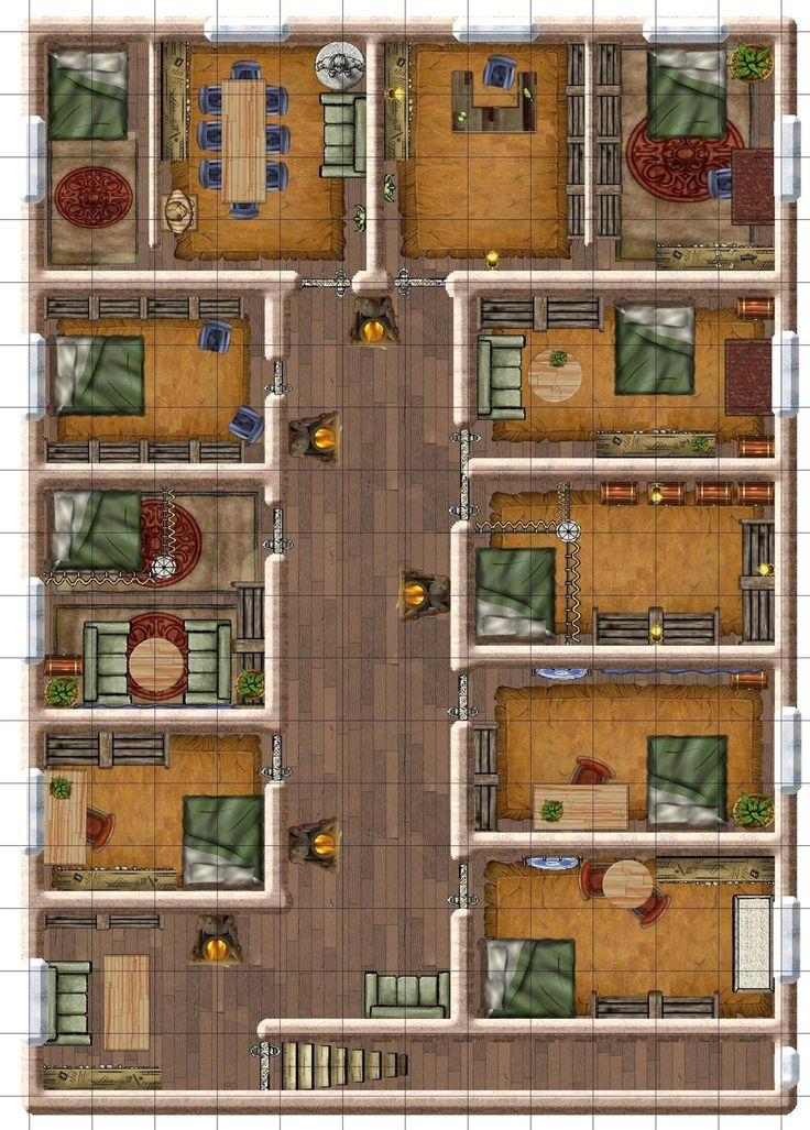 57 best images about d d maps on pinterest mansions for Floor 2 dungeon map