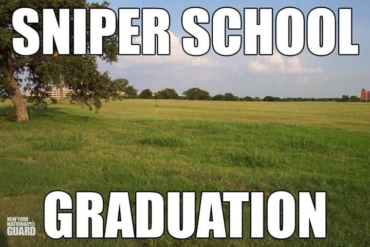 Sniper school graduation, joke, Army, Marines, gillie suit, funny, think about it for a moment