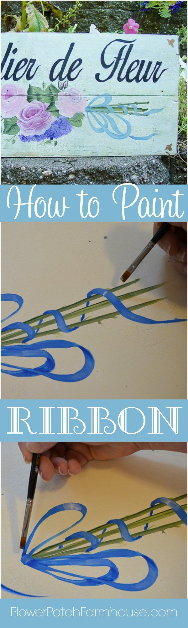 How to Paint Ribbon. 84 best Learn How to Paint images on Pinterest   Painting