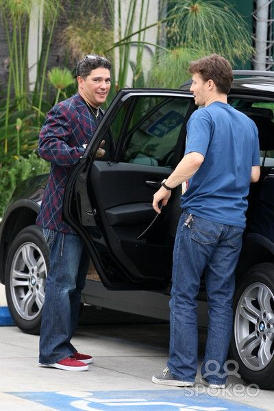 """Blue Bloods' actors Nicholas Turturro Jr. and Will Estes are seen leaving after having lunch at Urth Cafe In West Hollywood"