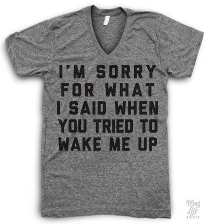 I  39 m sorry for what I said when you tired to wake me up