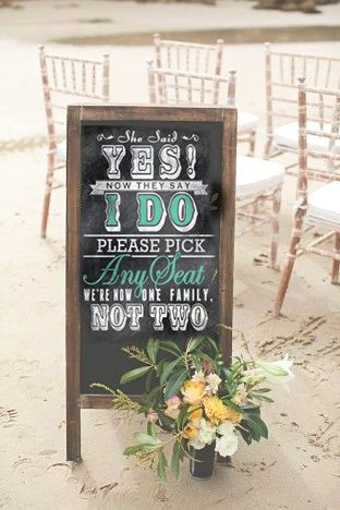Wedding Seating Sign for Ceremony Pick a Seat by DesignerCanvases