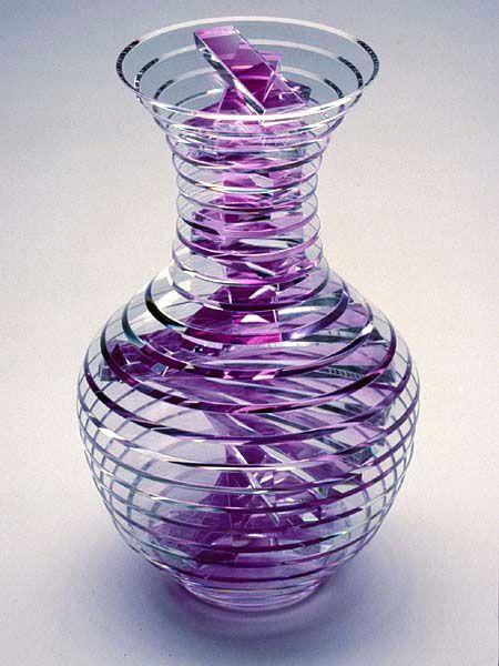 Sidney Hutter, Glass Artist – White House Vase #1