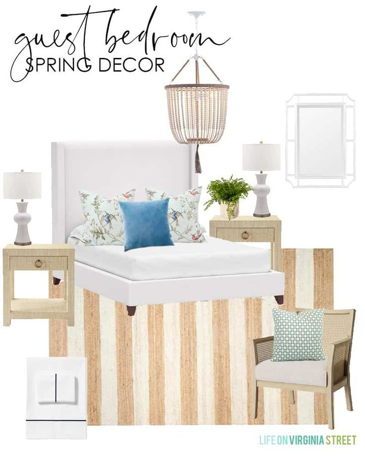 2020 Spring Decorating Ideas Design Boards Guest Bedroom Decor