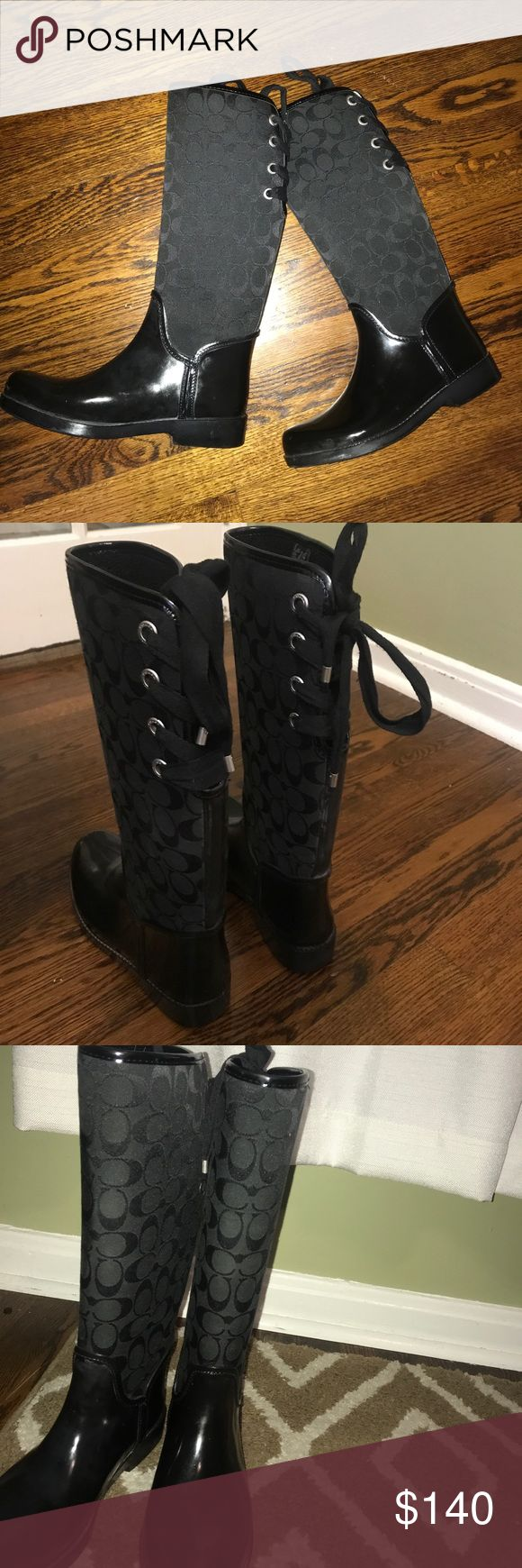 Best 25+ Coach rain boots ideas on Pinterest | White heels