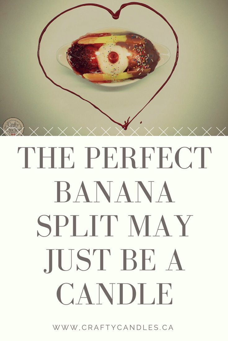 CAD $29.99. Scented in cherry, vanilla and chocolate, this two wicked candle looks like a real banana split!