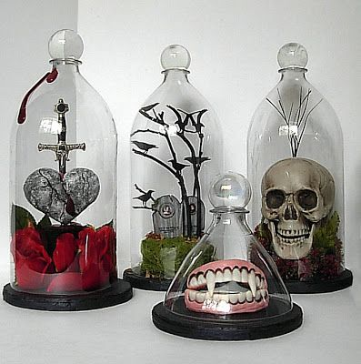 Soda Bottle Bell Or Cloche Jars. These could be beautiful for so many things that you want to display, but don't want to be touched or get dusty; like dolls or dried flowers, etc.  | Seeing Things
