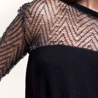 My first jacquard dress. The idea was of giving a devorè effect. #devorè #knitwear #jacquard #knittingmachine #knitting #knit #fashion #black