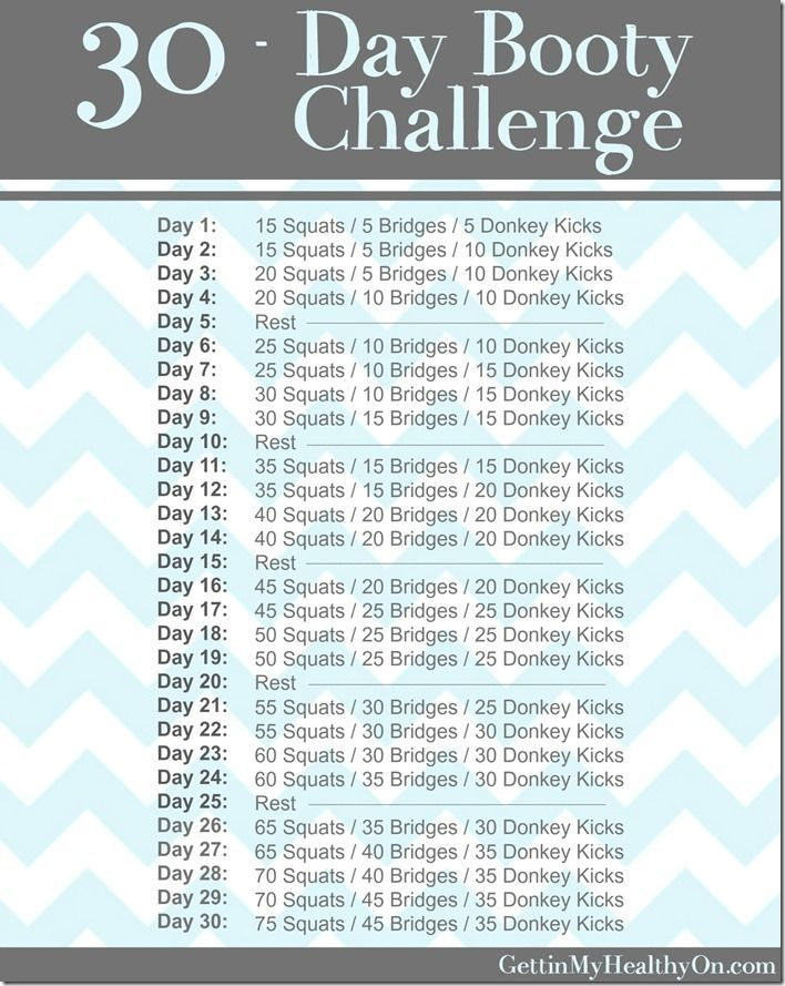Tone your derriere with this 30-day butt workout challenge! Who's going to do it with me?!