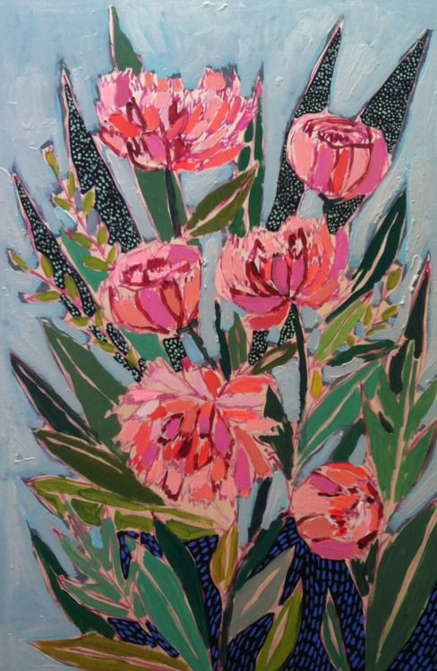 http://luliewallace.tumblr.com: Floral Art Botanical, Luli Wallace, Studios Design, Luliewallac Com, Art Inspiration, Art Flower, Charleston Artists, Pretty Paintings, Peonies