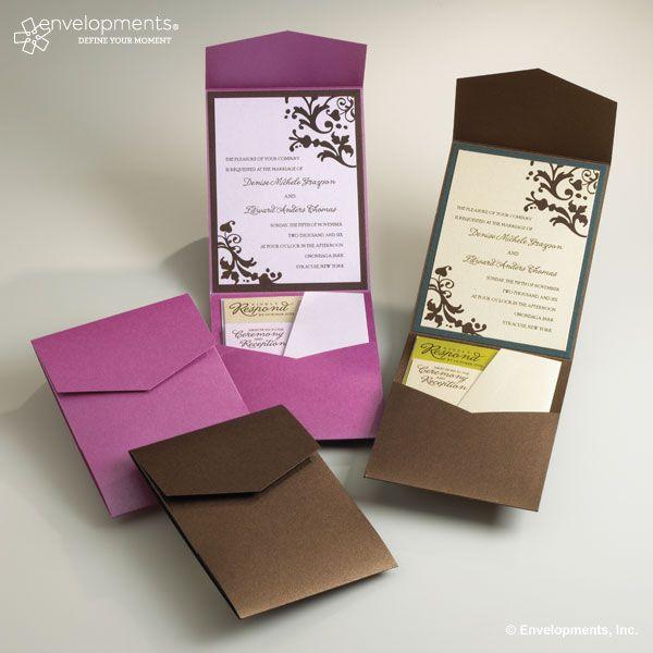 wedding invitations @Alicia Kors What about putting the invites Nick makes you in something like this...