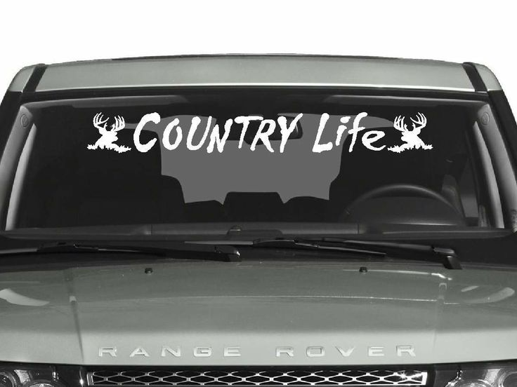 Decals By Us - Country Life Windshield Decal, $13.00 (http://www