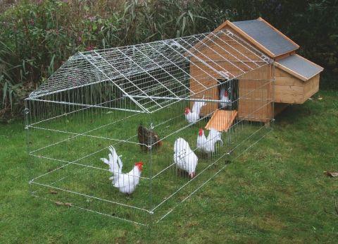 Kurník pro drůbež s výběhem - kuřata, slepice, husy