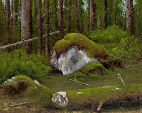 Erratic In a Blanket - Dennis Tasa - Oil on linen - 16 x 20 - www.dennistasa.com