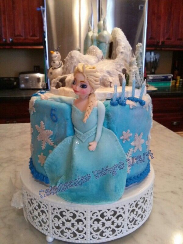 Images Of Frozen Character Cake : Frozen - Elsa & Olaf Cake Girls Character Cakes ...