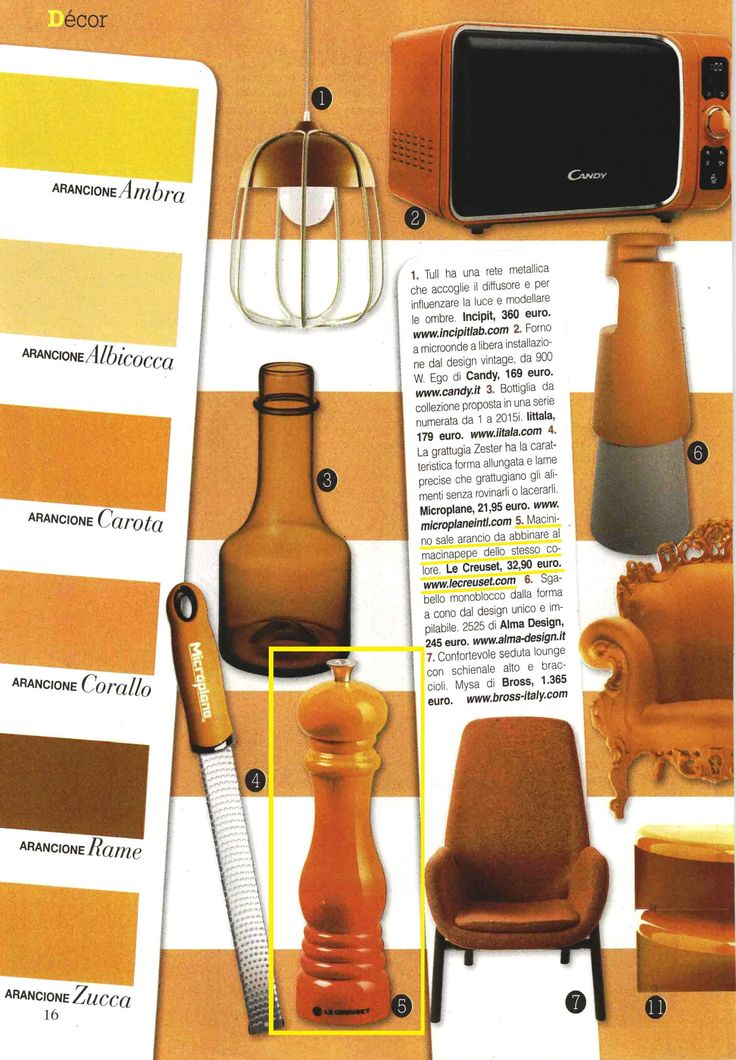 Macinino sale in gres smaltato colore arancio su Vero Casa! @lecreusetitalia #cucina #kitchen #living #design #accessori #accessories