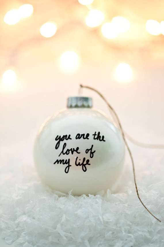 Message Ornament customizable by TwentyTwoTurtledoves on Etsy