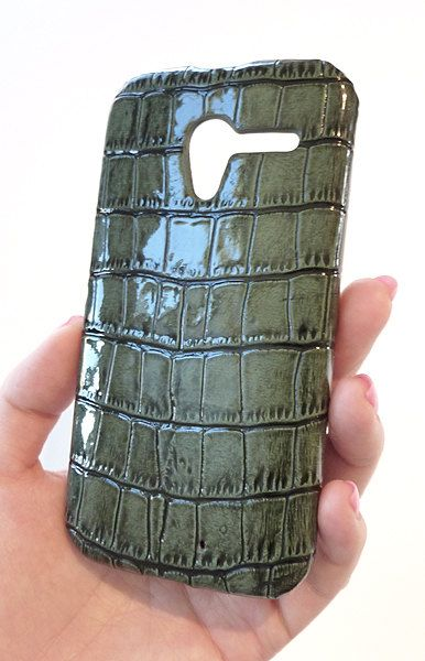 Motorola Green Crocodile Leather Cell Phone Case for Moto X on Etsy, $35.00