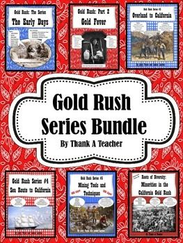 Gold Rush Series #1-6 Bundle Early Days Gold Fever Sea Routes | by Thank a Teacher