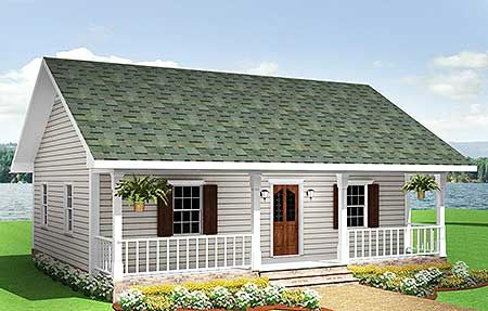 Cute Country Cottage - 2561DH   Cottage, Country, Narrow Lot, 1st Floor Master Suite, PDF   Architectural Designs