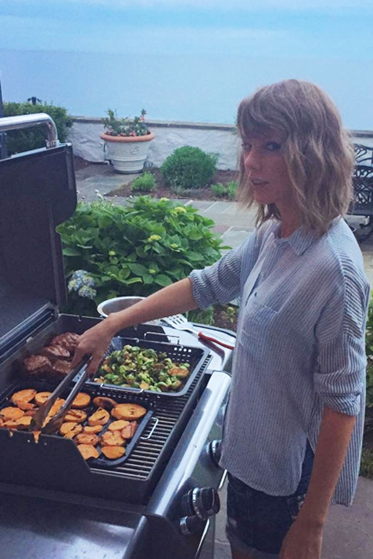 Aw. Calvin Harris shares his first ever photo of Taylor Swift on Instagram... 'She cooks too!' Cuteness.