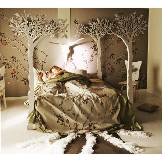 Approximately $12,185.21 + $2,732.50 shipping. Under the apple tree canopy bed - Modern romantic Scandinavian design Sleep Therapy woodland fairy tale. if only.