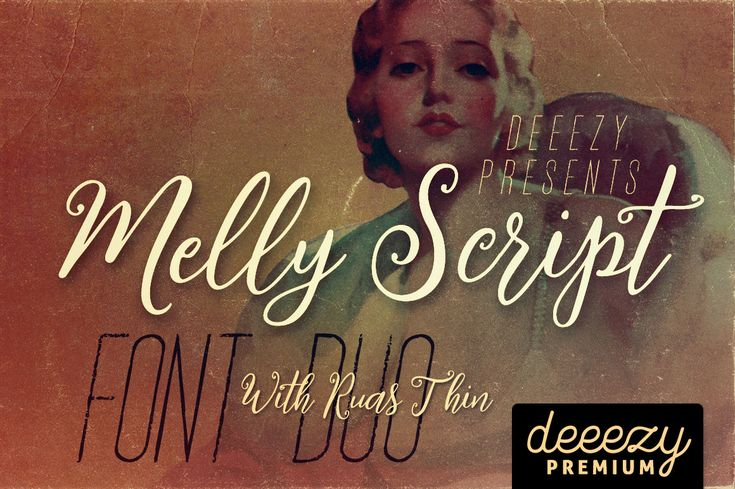Melly Script Font Duo | Deeezy - Freebies with Extended License