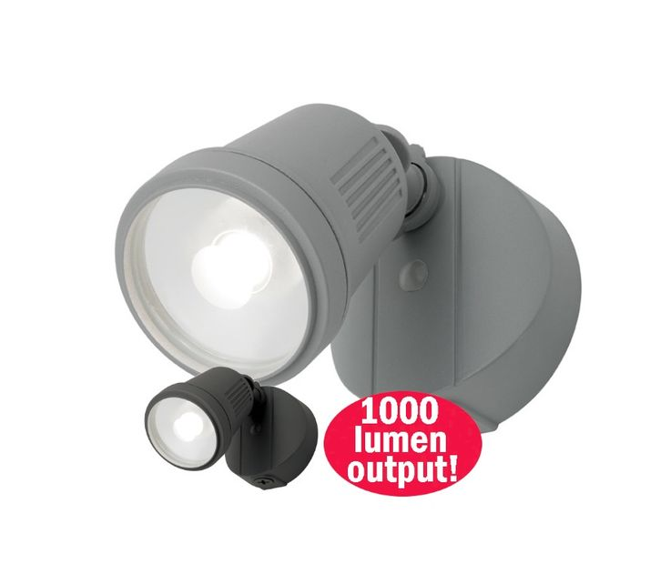 Otto+12w+LED+Single+Floodlight+Outdoor+Black,+Silver+or+White+Mercator+MXD6711, $53.90