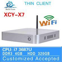Cheap Mini Desktop PC Core i7 Mini PC Thin Client X7 CPU random delivery X86 Board computer 4G RAM 320G HDD
