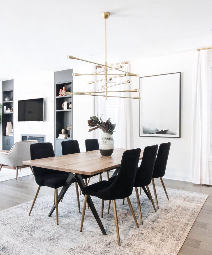 #Ssstisch Carmen Black Velvet dining chair #Black #Carmen #Dish table #Dining room chair #Velve …