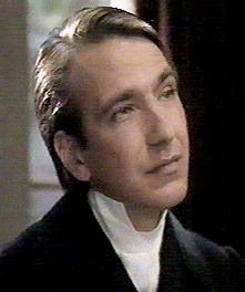 """Obadiah Slope (Alan Rickman)  in """"The Barchester Chronicles"""""""