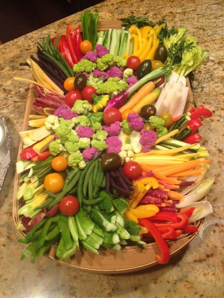 Vegetable tray for bridal shower
