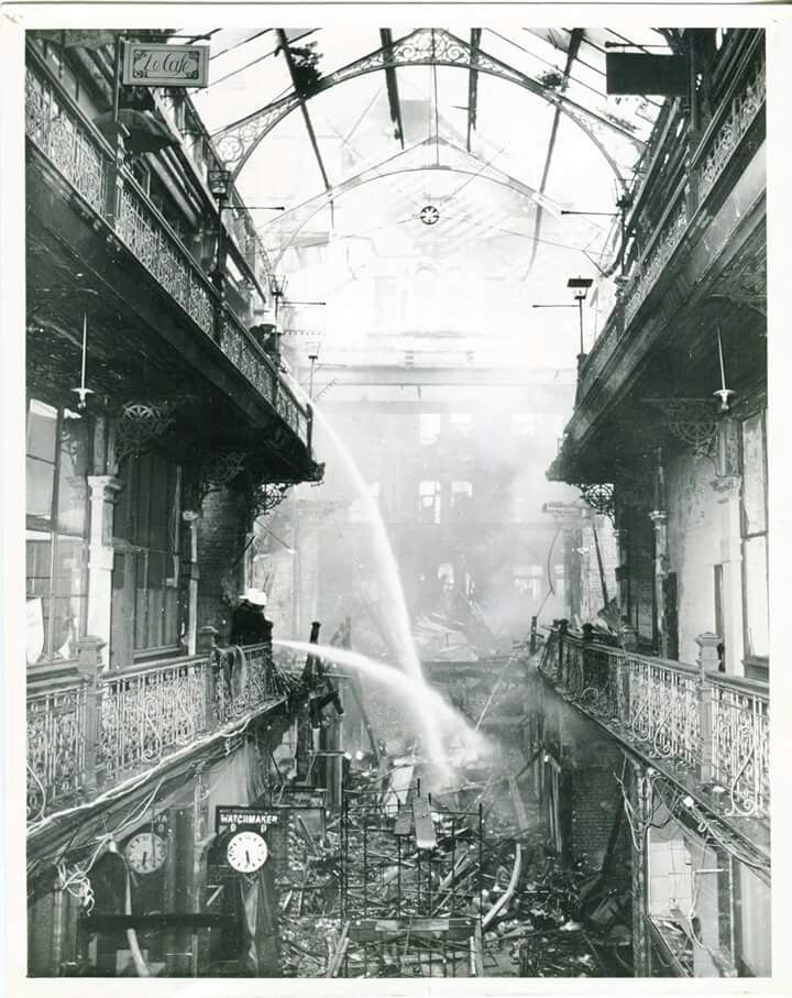 Two years after the Strand Arcade on George St,Sydney was listed by the National Trust Australia (NSW),an electrical fault on the 26 May 1976 resulted it to catch on fire.A♥W