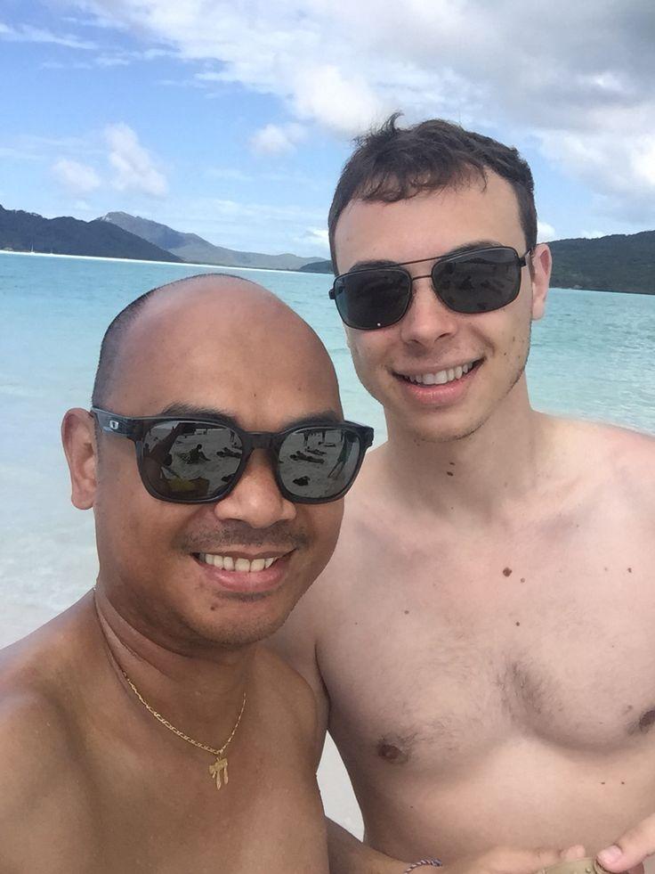 Thomas and I at Whitsundays, Australia