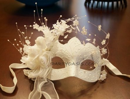 Wedding Mask Masquerade Wedding Masks Beautiful Wedding White Masquerade  Mask Made Of A Lightweight Poly Resin That Is Handpainted And Decorated With
