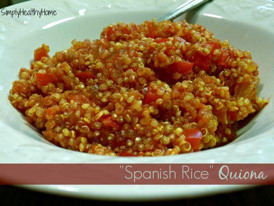 A recipe for spanish rice quinoa.