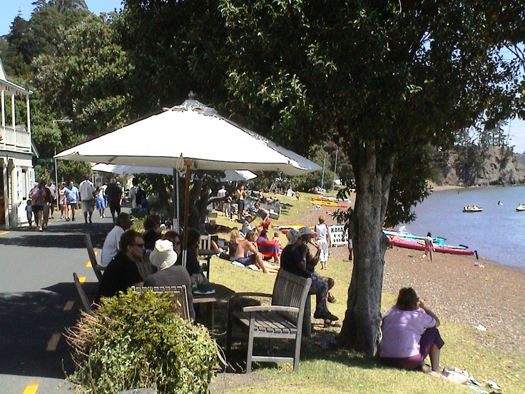 Russell foreshore outside the historic Bay of Islands Swordfish club