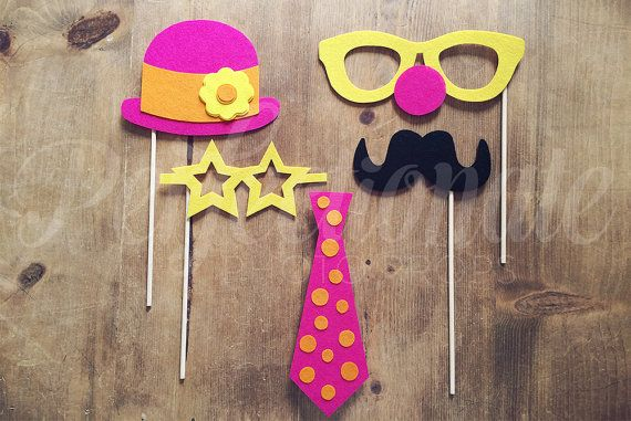 Pink Carnival Photo Props Wedding Photo Booth by Perfectionate