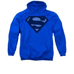 Superman Blue Shield Mens/Youth Pullover Hoodie