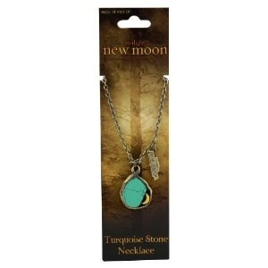 "Twilight ""New Moon"" Antique Brass Necklace (New Moon Turquoise stone)"
