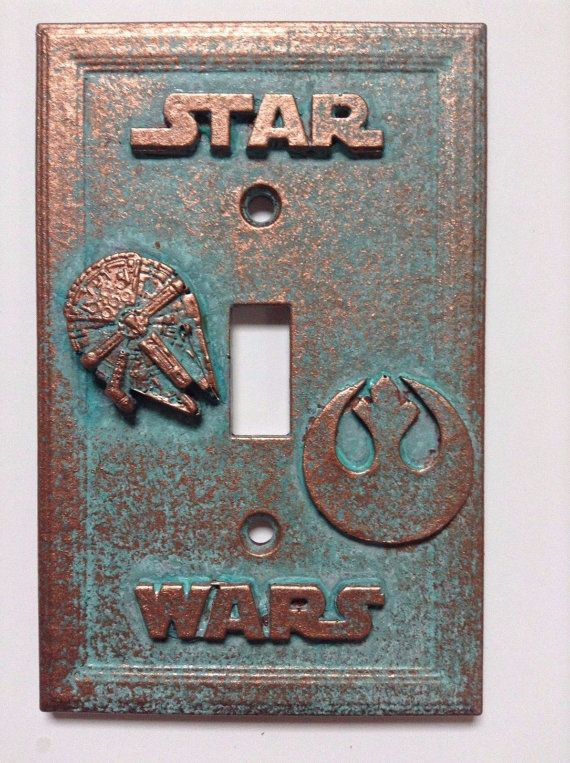 Star Wars Stone Or Copper Patina Light Switch Cover