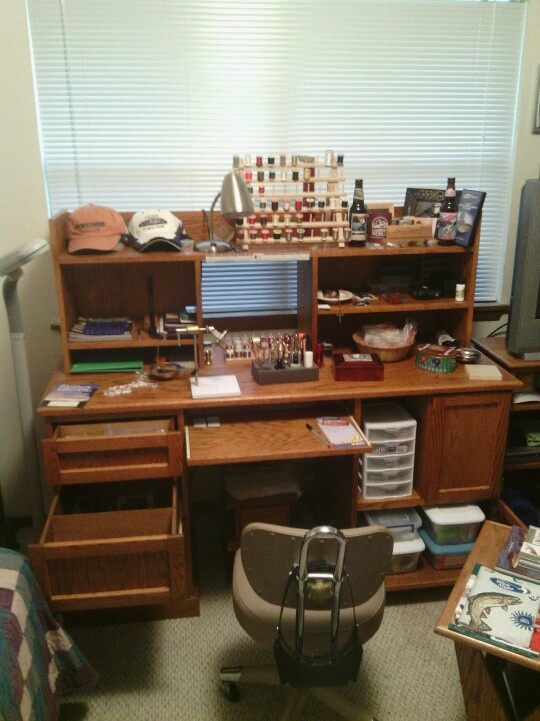Photo Of My Fly Tying Desk Fly Tying Furniture Rooms