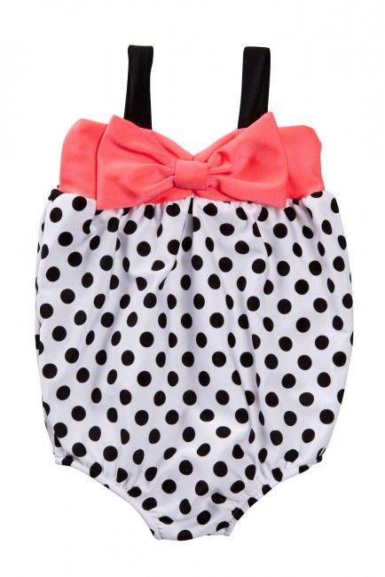 1 Piece Polka Dot Swimsuit (Baby Girls)