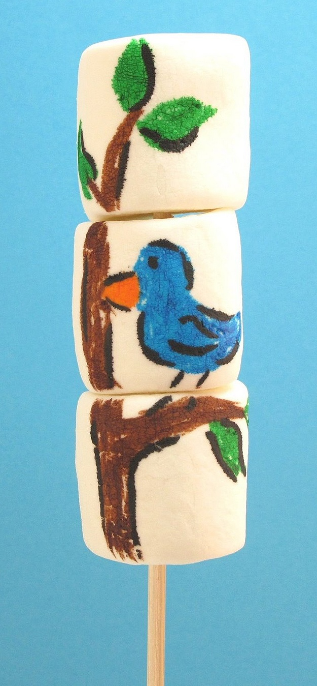 delicious marshmallow art: Easy Recipe, Edible Markers, Marshmallows Art, Summer Fun Activities, Decor Cookies, Parties Activities, Healthy Recipe, Weights Loss, Food Recipe