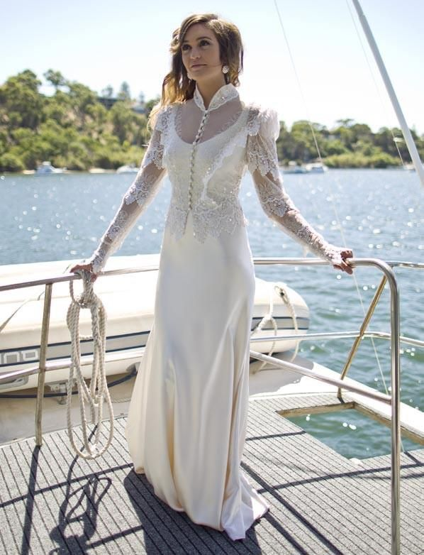 Romantic layered lace wedding dress http://www.arcarocouture.com.au/