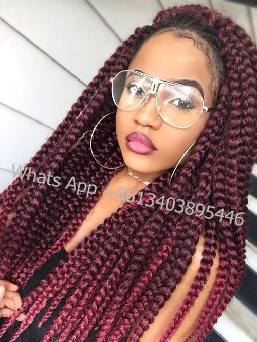 box braids black braids jumbo box braids crochet hair crochet braids ...