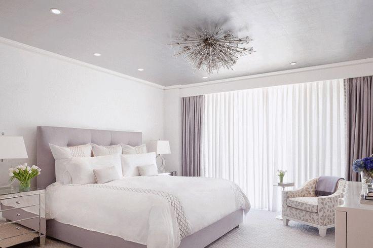 Спальня в  цветах:   Бежевый, Белый, Серый, Темно-зеленый.  Спальня в  стиле:   Минимализм.