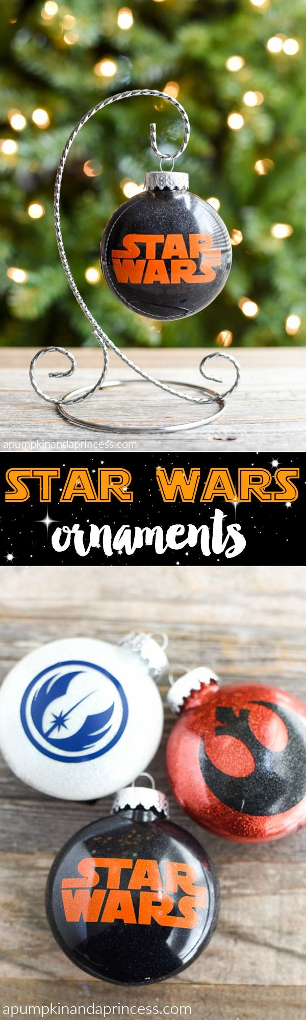 DIY Star Wars Ornaments - A Pumpkin And A Princess