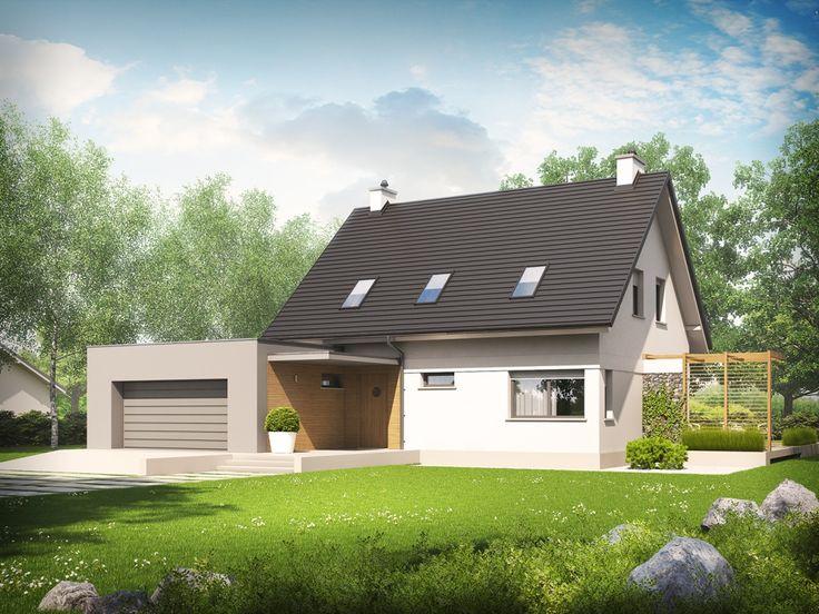 DOM.PL™ - Projekt domu AC Tobiasz II G2 ENERGO CE - DOM AF6-28 - gotowy projekt domu